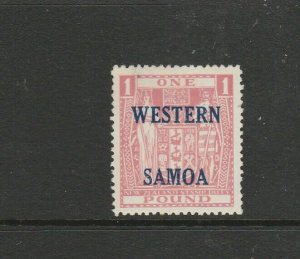 Samoa 1955 Opts on Arms £1 MM SG 234