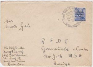Russian Occupied Germany 1948 Bad Schandau to New York stamps cover R20784