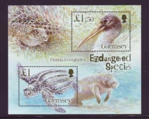 Guernsey Sc 892 2006 Endangered Species stamp sheet mint NH