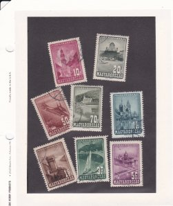 Hungary # C45-52, Various Architecture - Buildings, Used, 1/3 Cat.