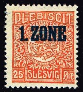 GERMANY STAMP PLEBISCIT 1.ZONE OVERPRINT SLESVIG  25øre MH/OG TYPE 7 VII  $90