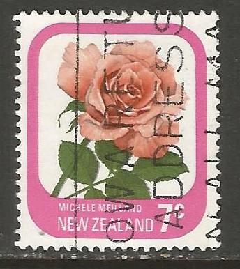 NEW ZEALAND 590 VFU ROSE N441 A