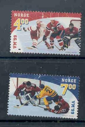 Norway Sc 1222-3 1999 Ice Hockey Championships stamp set