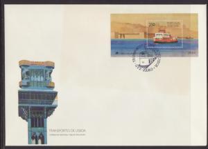 Portugal 1781 Ferry Souvenir Sheet U/A FDC