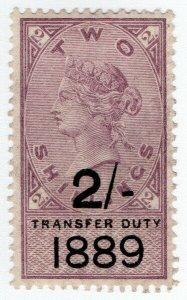 (I.B) QV Revenue : Transfer Duty 2/- (1889)