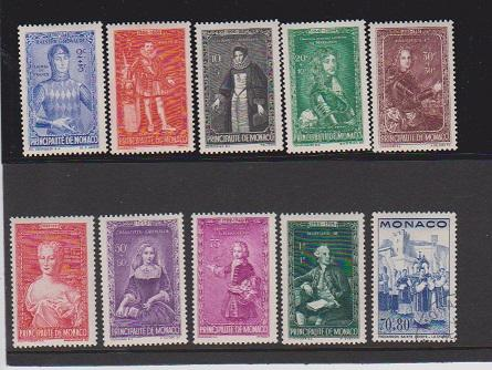 MONACO STAMPS MINT (9)USED (1)  LOT#184