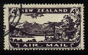 NEW ZEALAND 1931 4d airmail fine used - ACS cat NZ$30......................20651