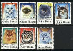 Guinea-Bissau 647-653  Cats Mint NH VF 1985 PD