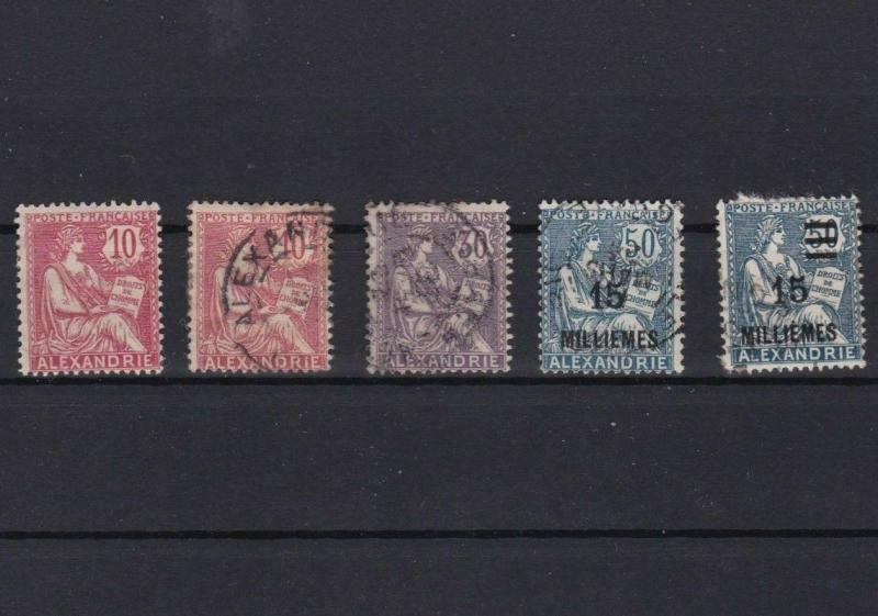 ALEXANDRIA 1902 - 1925 MOUNTED MINT &  USED STAMPS  REF 6432