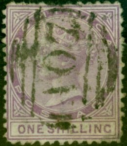 Dominica 1874 1s Dull Magenta SG3 Good Used