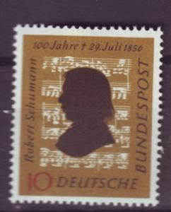 J570 jls stamps 1956 germany scn 743 mh schumann music