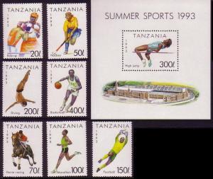 Tanzania Sport 7v+MS SG#1506-1512+1513