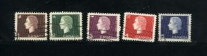 Canada  401-05 Complete set -3 used PD 1962-63