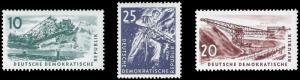 Germany DDR 1957 Sc 347-49 MVLH Coal Mining