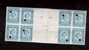 Newfoundland #269v XF Mint Imperf Gutter Block Of Eight