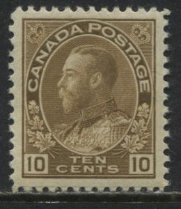 Canada KGV Admiral 10 cents bister brown mint o.g.