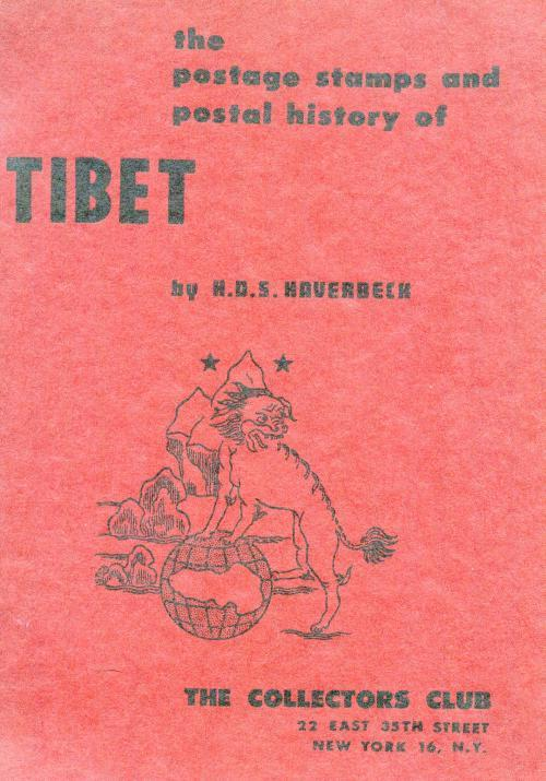 Book - Tibet Stamps & Postal History,Haverbeck,1958,79 pages