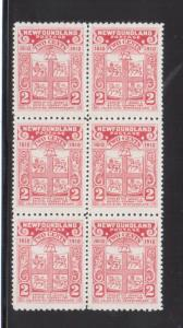 Newfoundland #88a Extra Fine Never Hinged Block Of Six