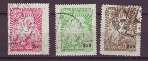 J25483 JLstamps 1943-51 mozambique used #ra49-50,ra53 pelican