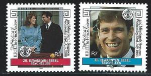 Seychelles Zil Elwannyen Sesel  mnh 119 - 120