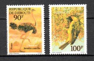 DJIBOUTI SC# 462-463 ANIMALS MNH