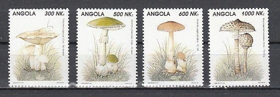 Angola, Scott cat. 887-890. Various Mushrooms issue.
