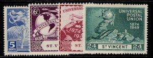 ST. VINCENT GVI SG178-181, anniversary of UPU set, M MINT.