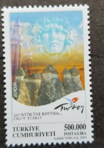 Turkey Europa CEPT Travel Poster 2003 Tourism (stamp) MNH