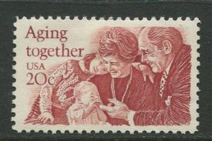 USA - Scott 2011 - Aging together - 1982 - MH -Single 20c Stamp
