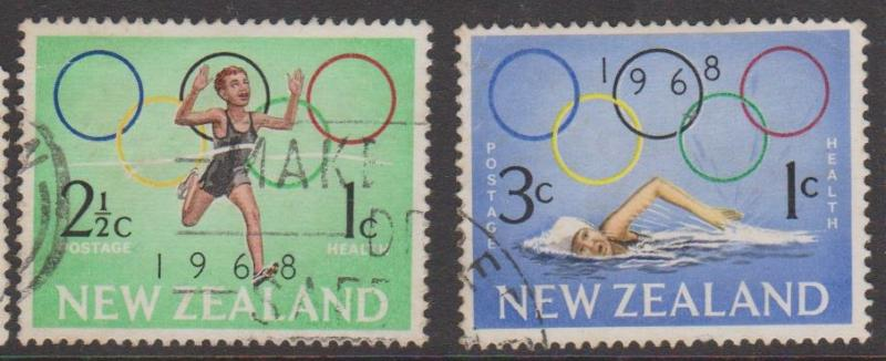 New Zealand Health Issues Sc#B75-76 Used