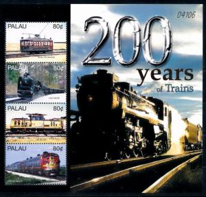 [63486] Palau 2004 Railway Train Eisenbahn Chemin de Fer Sheet MNH