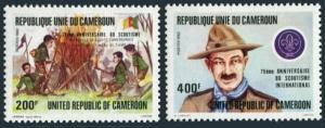 Cameroun 719-720,MNH.Michel 988-989. Scouting Year 1982.Campfire,Baden-Powell.