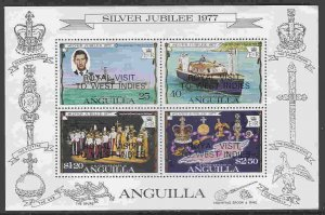 Anguilla #300a s/sheet F-VF Mint NH ** Royal Visit to the West Indies