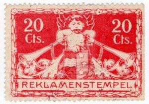 (I.B) Switzerland Revenue : Advertising Tax 20c (Reklamenstempel)