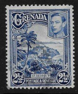 GRENADA SG157a 1950 2½d BRIGHT BLUE p12½x13½ USED