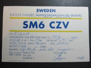 10294 Amateur Radio QSL Card ANGERED SWEDEN