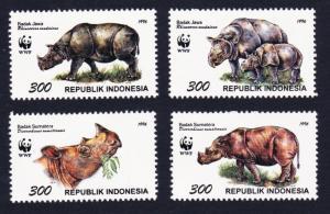 Indonesia WWF Javan and Sumatran Rhinoceros 4v SG#2267-2270 MI#1648-1651 SC#1673