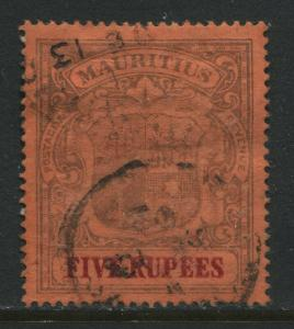 Mauritius 1902 5 rupees used