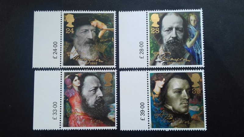 Great Britain 1992 The 100th Anniversary of the Death of Lord Alfred Tennyson Mi
