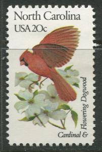 USA - Scott 1985 - State Birds & Flowers - 1982 - MNG - Single 20c Stamp