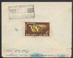 VIETNAM 1954 cover Saigon to India.........................................11162