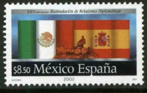 MEXICO 2298, RENEWAL OF DIPLOMATIC RELATIONS MEXICO-SPAIN 25th A. MINT, NH. VF.