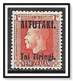 Aitutaki #18 KG V Overprinted MHH