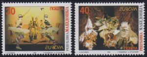 Macedonia 124-125 MNH (1998)