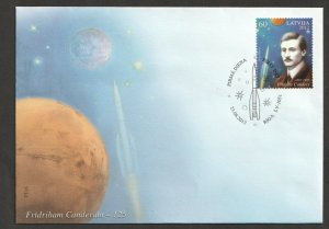 2012 LATVIA  - FRIEDRICH CANDER - ASTRONOMY SET  ON FIRST DAY COVER