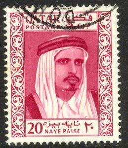 QATAR 1961 20np SHEIK AL THANI Sc 28 VFU
