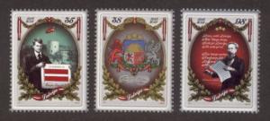 Latvia Sc# 770-2 MNH Centenary of Latvian Republic 2010