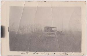 Canada Actual Photo Post Card Showing Men With Rifles In Car. MSS 1921 Scarce&F