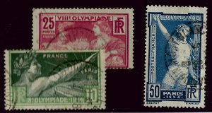 France SC#198-199, 201 Used Fine...Worth a Close look!!