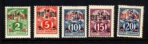Estonia Sc 84-8 1928 10 yrs Independence stamps mint